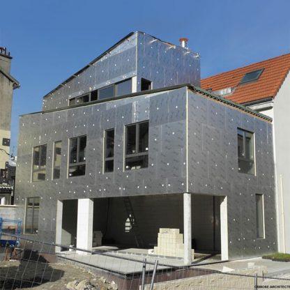 Isolant polyuréthane façade maison BBC