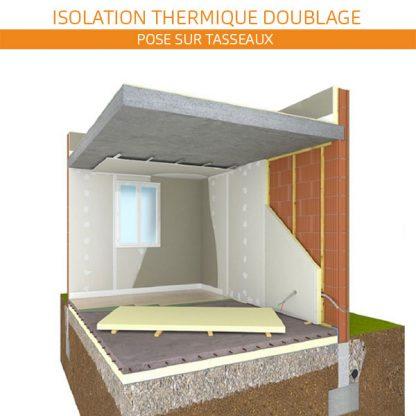 Fixation isolant par vissage sur structure