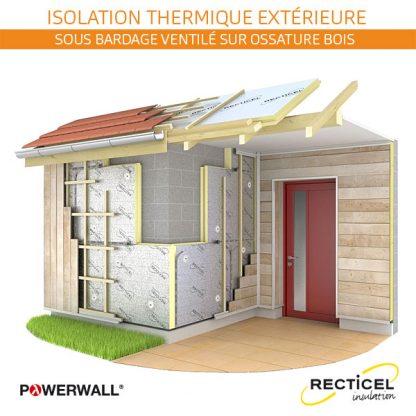 isolant façade sous bardage ventilé bois