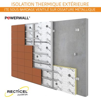 isolant façade sous bardage ventilé métal